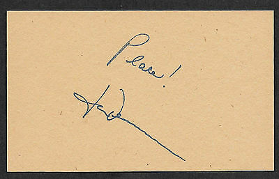 John Denver Autograph Reprint On Old 3x5 Card Country Music