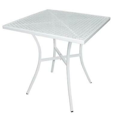 Cafe Table 700mm Square White Steel Outdoor Restaurant Bistro Furniture Tables