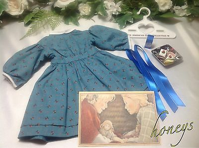Authentic American Girl Doll KIRSTEN'S MEET DRESS w/Ribbons-Snacks-PostCard-More