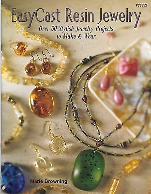 Easy cast resin jewelry how to guide book marie browning PB jewellery making