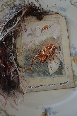 Wish For More - A Mixed Media Ooak Journal/art Collage Tag Or Bookmark
