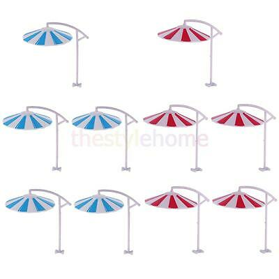 10x MagiDeal Sun Umbrella Model Toy Decorative Building Scenery Layout 1/100