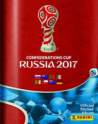 PANINI CONFEDERATIONS CUP 2017 SOCCER STICKER COLLECTION ALBUM + 5 x PACKS