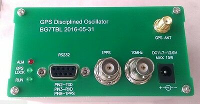 GPS Receiver GPSDO 10MHz Sine Wave Disciplined Clock + Antenna Power Supply New