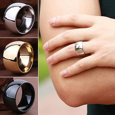 Fashion Men Women's Stainless Steel Band Ring Wedding Engagement Lover Jewelry