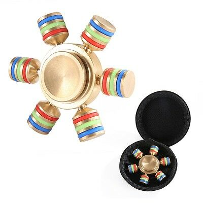 Glowing IN Dark Finger Hand Spinner Toys Brass Plate Free Relieves Anti Stress