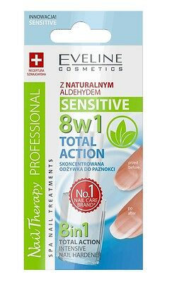 Eveline Nail Therapy 8In1 Sensitive Total Action Concentrated Nails Conditioner