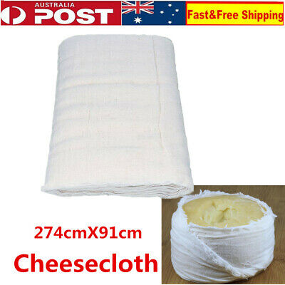Cotton Fibres Cheese Food Muslin Butter Cloth 1.83x0.91 Metre Cheesecloth
