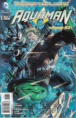 AQUAMAN 15...NM-...2013...New 52...Geoff Johns,Pete Woods...VVHTF Bargain!