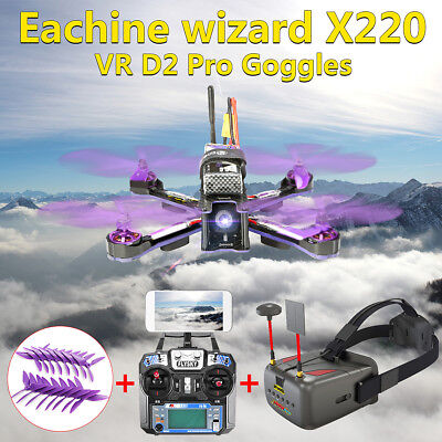 Eachine Wizard X220 FPV Racer FlySky FPV + VR D2 Pro Upgraded 5.8G Goggles DVR