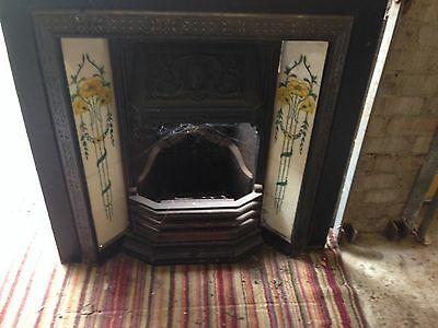 Victorian Antique Cast Iron Fireplace