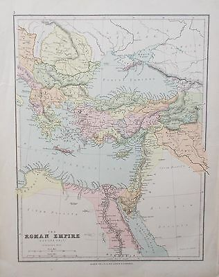 Map of the Eastern half of Roman Empire. 1900. G Philip. EUROPE. ANCIENT