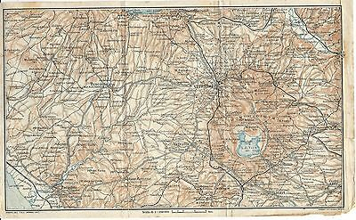 Carta geografica antica TARQUINIA VITERBO ORTE VICO TCI 1923 Old antique map