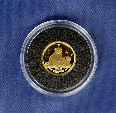 2005 Isle of Man 1/25oz Gold Crown coin in Capsule with COA   (Z7/31)
