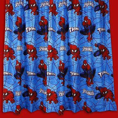 "New & Official Spiderman 'city' 72"" Drop Curtains"