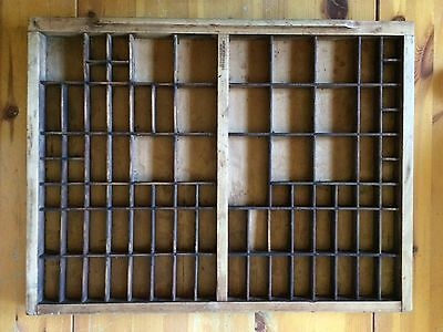 Letterpress Printer Printing Tray Drawer Vintage 86 Sections