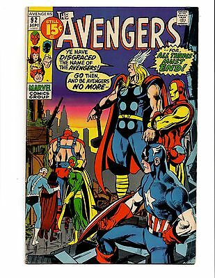 Avengers 92 Neal Adams Cover Glossy Classic Early Bronze Age Buscema