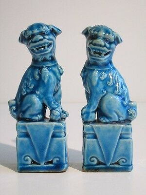 20Th Vintage Chinese Foo Dog Dragon Porcelain Statue Orientali Porcellana
