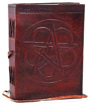 Leather Bound Pentagram Book of Shadows!