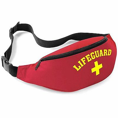 Lifeguard Red/yellow Belt Bag - Fancy Dress Party Wear Bum Waist Money Pouch