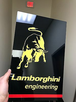 Stunning Lamborghini engineering HD panel hi def metal garage sign