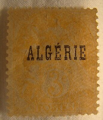 Algeria Stamp 1924 Scott 3 A16a  Unused Overprint