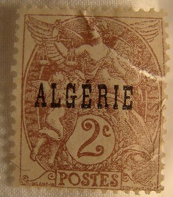 Algeria Stamp 1924 Scott 2 A16a  Unused Overprint