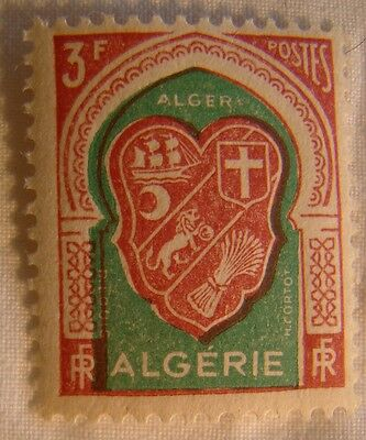 Algeria Stamp 1947 Scott 217 A31  Mint MNH Coat of Arms 3f