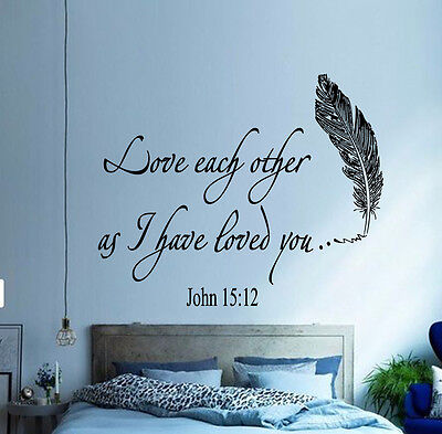 FAMILY WALL DECAL Quote Love Each Other Bible Verses Bedroom ...