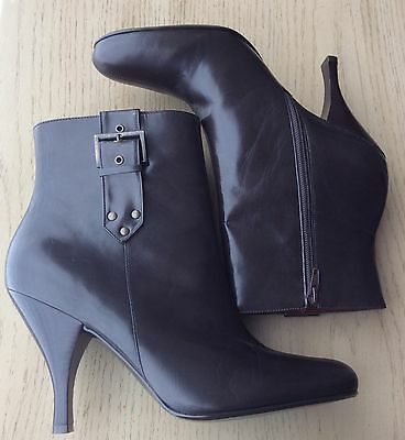 Enzo Angiolini Womens Size 10 Brown Leather Fashion Bootie / Ankle Boots NWOB