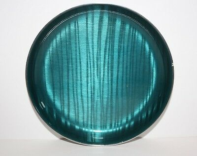 Green Glazed Metal Dish metal plate - Cathrineholm norway approx 4 and half inch