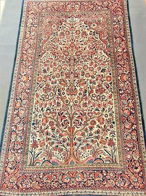Antique Kashan Prayer Rug / Carpet