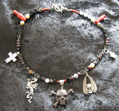 OH MY GOTH! New Gothic Skull Dragon Ghost Cross Necklace Punk Rock Wicca New