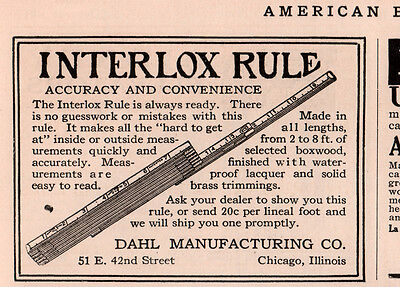 Ad Lot Of 3 1914  -  17A Ads  Master Slide Rule Dahl Mfg Boxwood Trim Interlox