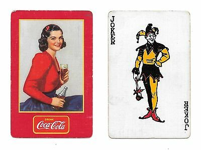 1939 Canadian Coca-Cola Swap Single Joker Playing Card!!!!