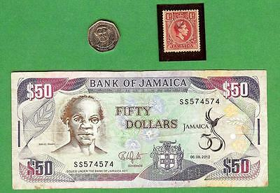 Jamaica ~ Coin , Stamp & Paper Money Lot # 1281  (*-*)