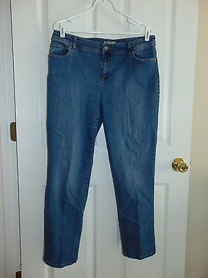 Chico's crop jeans chico's size 2 blue denim cropped pants