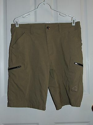 Gerry mens shorts size 36 brown cargo style zipper pockets camping hiking