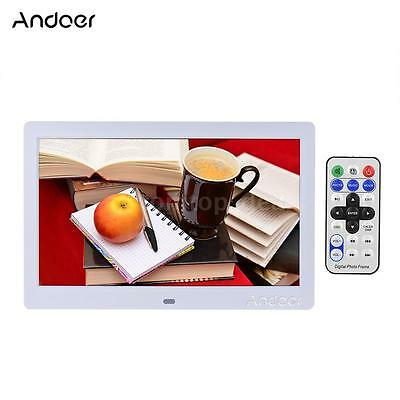 """10""""inch HD LED Digital Photo Frame Picture Album MP3/4 Movie Player Remote D4J3"""