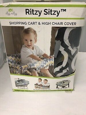 Ritzy Sitzy Shopping Cart & Hug Chair Cover, Black & White Pattern