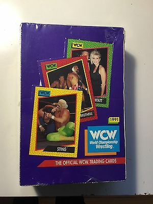 Wrestling WCW cards rare factory sealed box