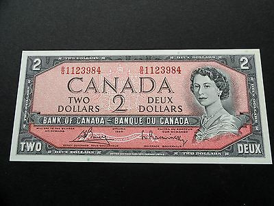 CRISP Uncirculated 1954 CANADA $2.00 Two Dollars BILL - EXCELLENT BG1123984