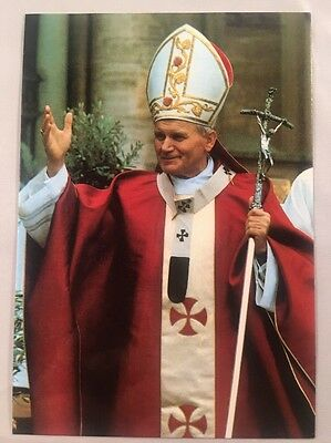 His Holiness Pope John Paul II Postcard in Mint Condition Fisa