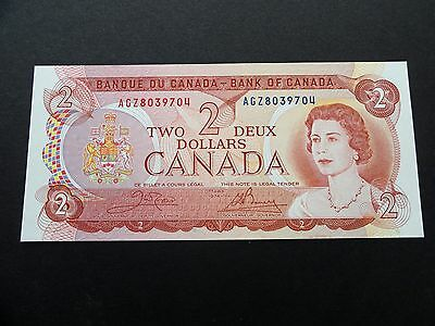 CRISP Uncirculated 1974 CANADA $2.00 Two Dollars BILL - EXCELLENT AGZ8039704