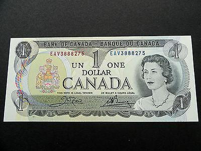 CRISP Uncirculated 1973 CANADA $1.00 One Dollar BILL - EXCELLENT EAV3888275