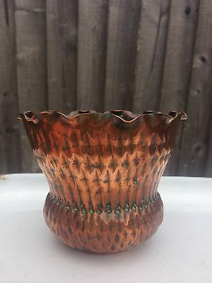 Small Lovely Arts & Crafts Copper Vase / Bowl