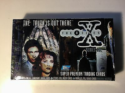 X Files tv show series 1 cards rare factory sealed box