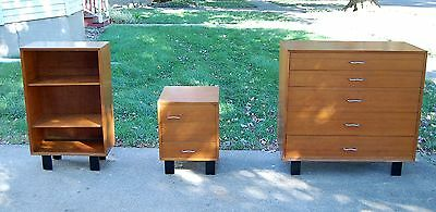 Herman Miller George Nelson Vintage Bedroom Set Chest Bookshelf cabinet dresser