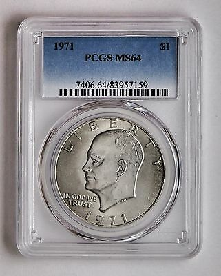1971 $1 Eisenhower Ike Dollar PCGS MS 64