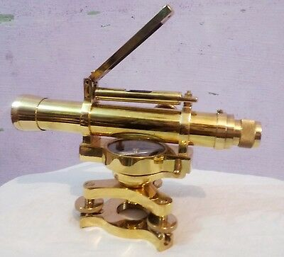 Brass Antique Vintag Optical Dumpy Level Scientific Surveying Instrument Machien